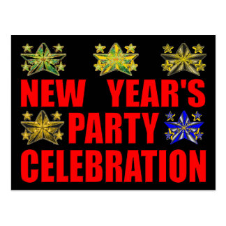 New Year's Party Invitation Postcard
