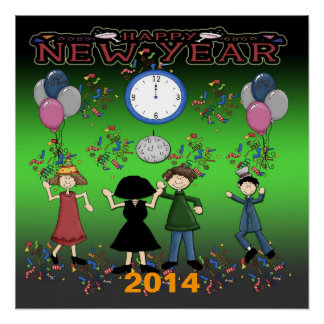 """New Year's Party Poster 20""""x20"""""""