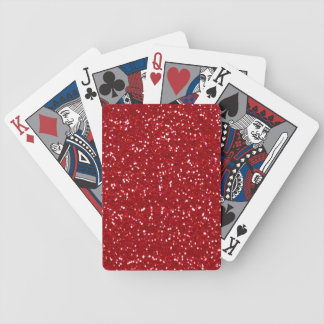 NEW YEAR'S PARTY RED GLITTER PLAYING CARDS