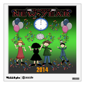 New Year's Party Square Wall Decal