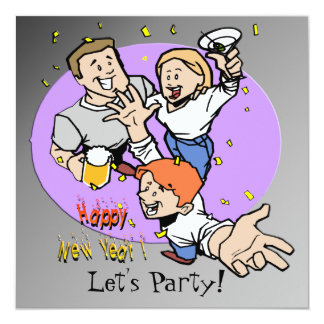 New Year's Partyers Invitation