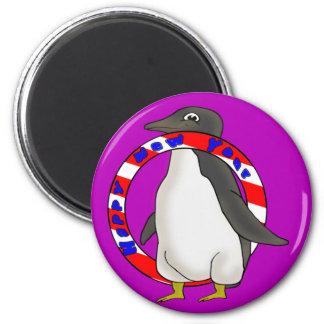 New Years Penguin Fridge Magnet