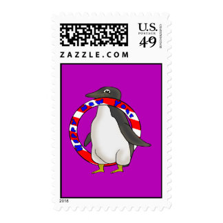 New Years Penguin Postage Stamps
