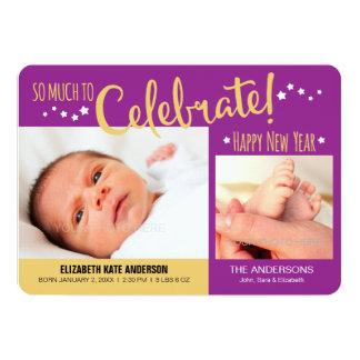 New Years Photo Baby Girl Announcement