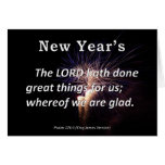 New Year's Psalm 126-3 Greeting Cards