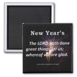 New Year's Psalm 126-3 Magnets