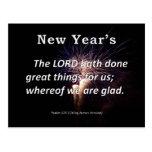 New Year's Psalm 126-3 Postcard