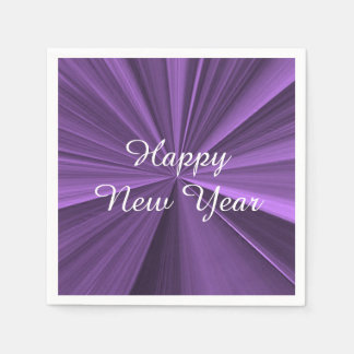 New Years Purple Paper Napkins by Janz