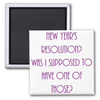 New Year's Resolution 2 Inch Square Magnet