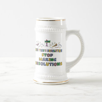 New Years Resolution Beer Stein