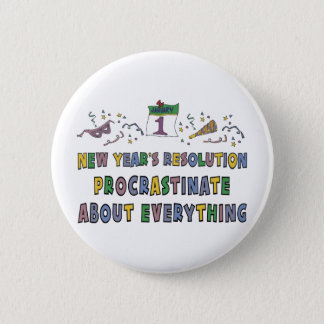 New Years Resolution Button
