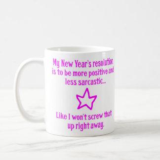 New Year's Resolution Classic White Coffee Mug