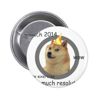 New Years Resolution Doge Buttons