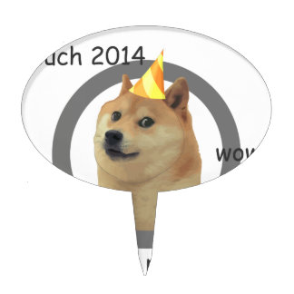 New Years Resolution Doge Cake Topper