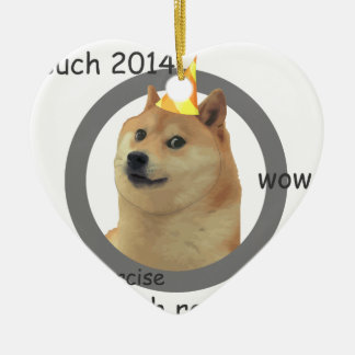 New Years Resolution Doge Ceramic Ornament