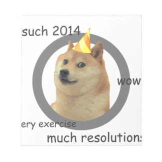 New Years Resolution Doge Notepad