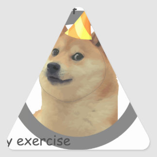 New Years Resolution Doge Triangle Sticker