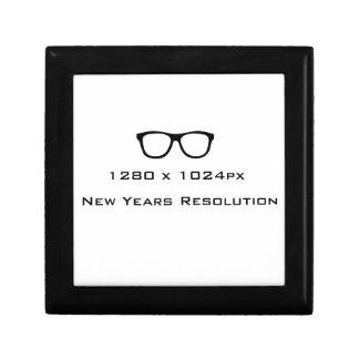 New Years Resolution Geek Gift Box