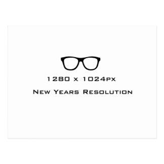 New Years Resolution Geek Postcard