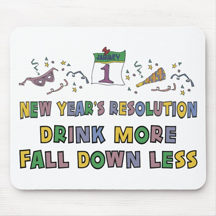New Year's Resolution Mouse Pad