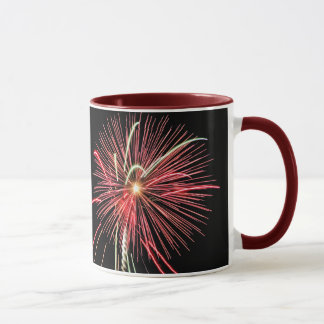 New Years Resolution Mug, Red Fireworks Mug