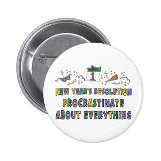 New Years Resolution Pinback Buttons