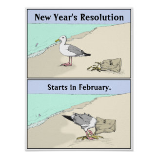 New Year's Resolution Poster 12x16"