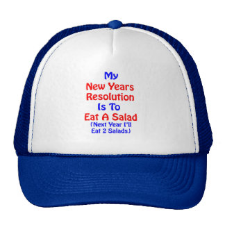 New Years Resolution Salad Trucker Hat
