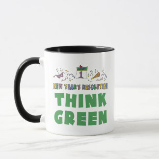 New Years Resolution Think Green Mug