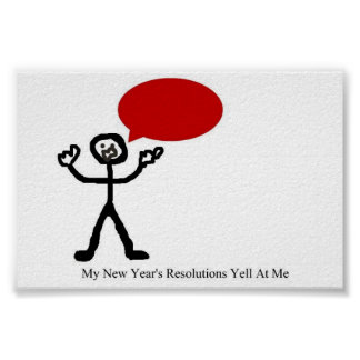 New Year's Resolution Yelling Posters