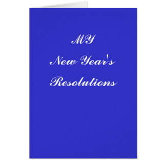 New Year's Resolutions Card