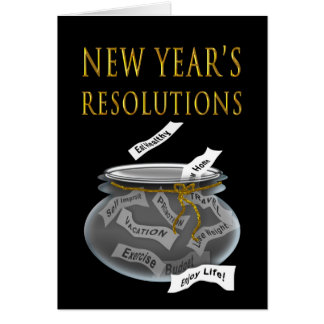New Years - Resolutions in a Jar Card