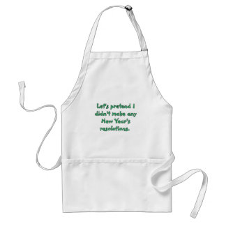 New Year's resolutions t-shirts and products Adult Apron