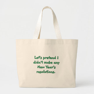 New Year's resolutions t-shirts and products Tote Bags