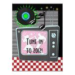 "New Year's Rockin Around the Clock - SRF 6.5"" X 8.75"" Invitation Card"