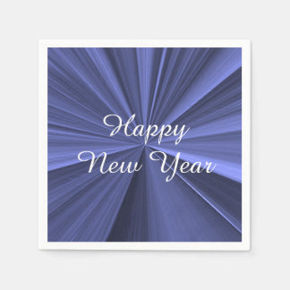 New Years Royal Blue Paper Napkins by Janz