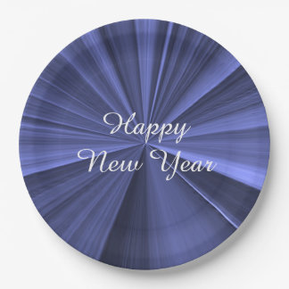 New Years Royal Blue Paper Plates by Janz 9 inch