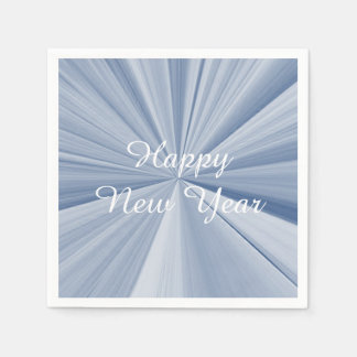 New Years Sky Blue Paper Napkins by Janz