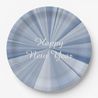 New Years Sky Blue Paper Plates by Janz 9 inch