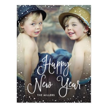 NBpaperco New Years Snow Holiday Photo Postcard