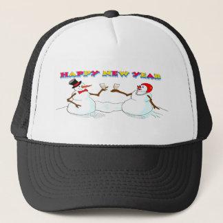 New Year's Snowmen Trucker Hat