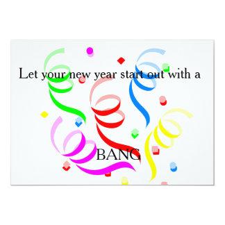 New Years Streamers-Signature: Matte 5x7 Invitatio Card