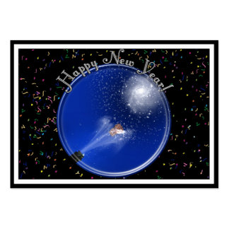 New Years Supernova Celebration Large Business Cards (Pack Of 100)