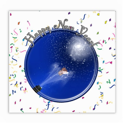 New Years Supernova Celebration Standing Photo Sculpture