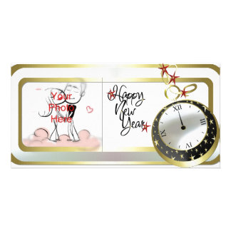 New Years Template Family Photo Cards