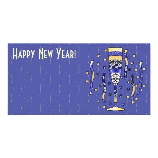 New Year's Toast Photo Card