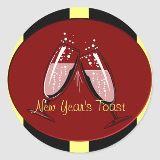 New Year's Toast Stickers