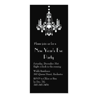 New Years under the Lights Invitation (black)