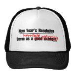 New Years Warning Mesh Hat