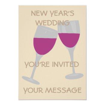 New Year's Wedding Celebration Wedding Invitation by CREATIVEWEDDING at Zazzle